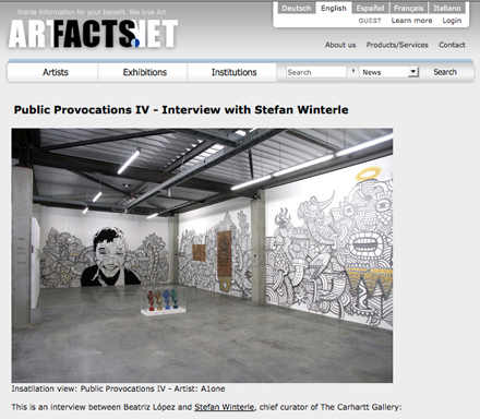 artfacts.net X Public Provocations IV - Interview with Stefan Winterle